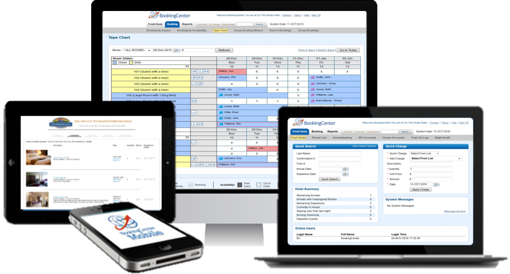 BookingCenter Property Management Systems