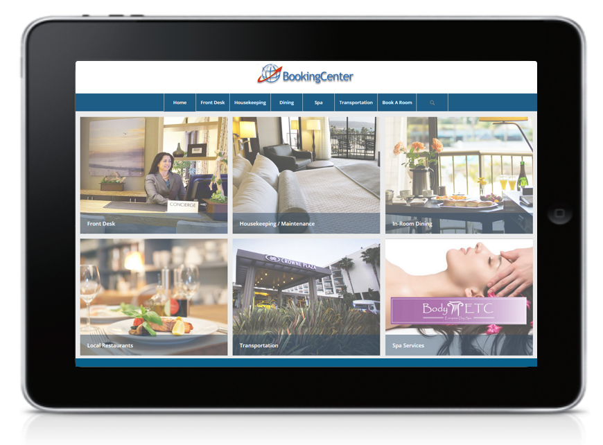 Mobile Concierge Website Tablet