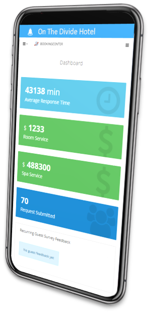 MyGuest Mobile App Dashboard lets you track Requests and receive immediate notifications.