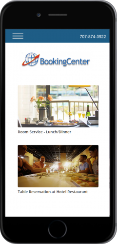 MyGuest Mobile Concierge Tool Dining Requests Mobile